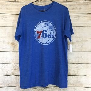 NEW NBA Philadelphia 76ers Basketball T Shirt L